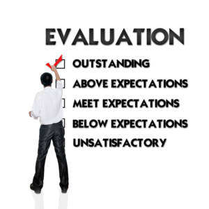 Performance Reviews man standing in front of text evaluation 300x300 - Performance Reviews: Handling for Results