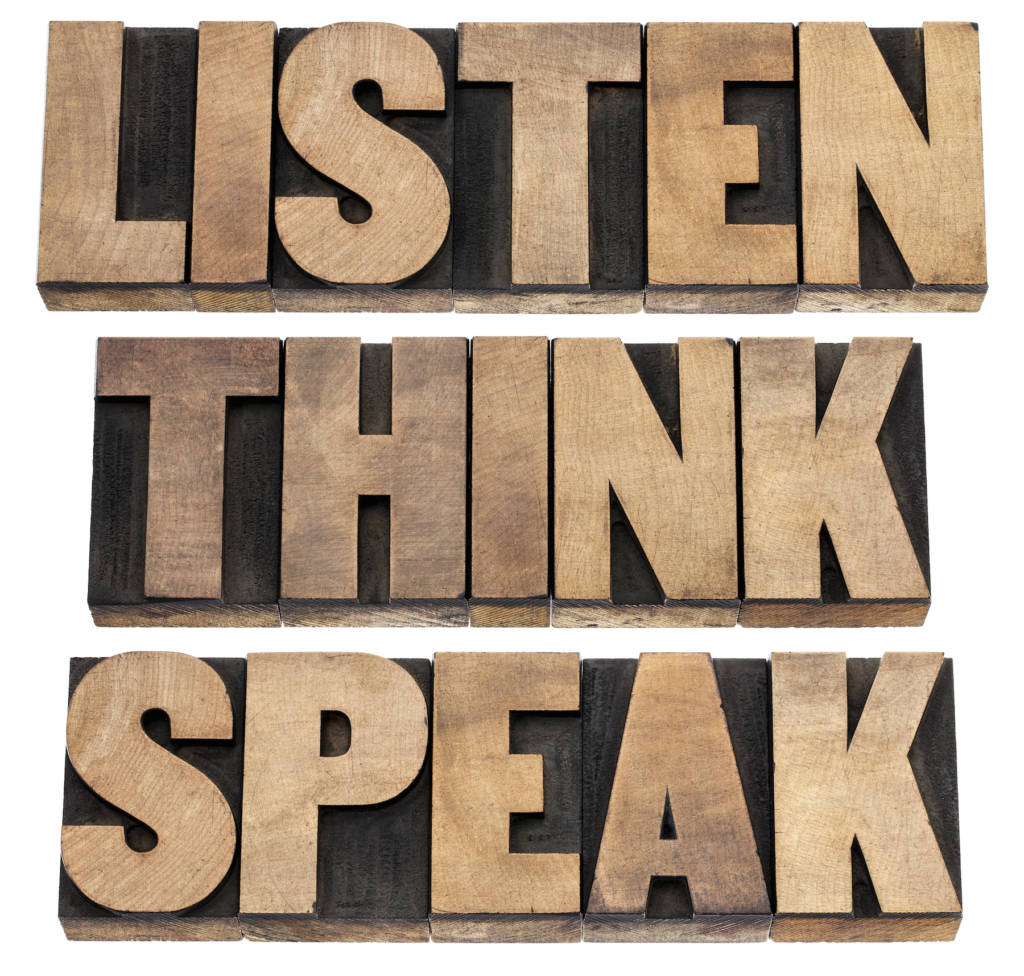 SalesSkillsEveryoneNeedslisten think speak written with wooden letters 1024x976 - Sales Skills Everyone Needs Even If You Aren't In Sales