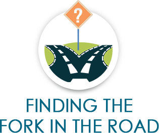 Finding the fork in the road graphic - Business Partners Consulting